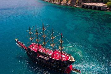 Морская прогулка на пиратском корабле из Белека - Бухта Фазелис