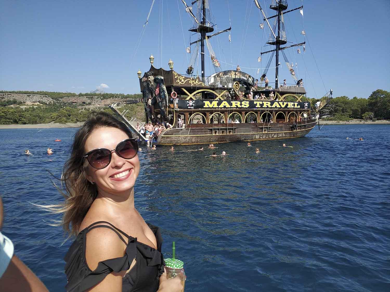 Прогулка на яхте в Анталии - Пиратский Корабль - Морская Прогулка