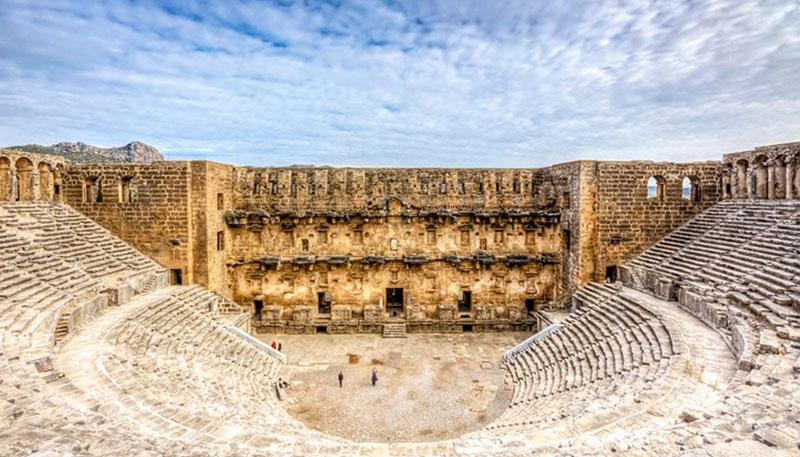 Куршунлу Аспендос Сиде из Алании - Древние храмы богов Диониса