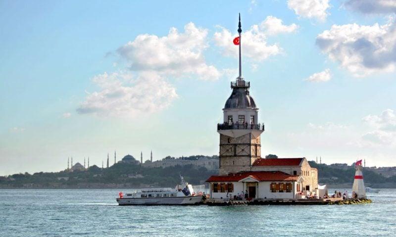 Девичья Башня - Леандрова Башня или Kız Kulesi - Где находится?