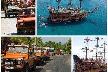 Экскурсия на джипах и пиратском корабле в Алании