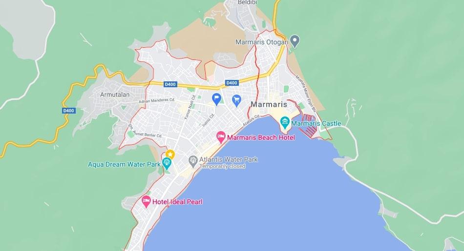 Мармарис на карте - Где находится Мармарис?